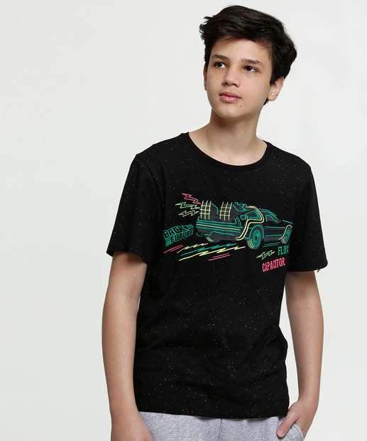 Image_Camiseta Juvenil Estampa Frontal Neon Manga Curta Universal