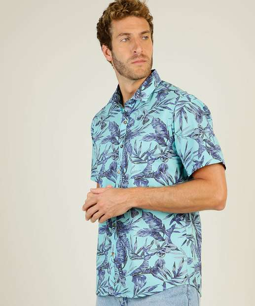 Image_Camisa Masculina Estampa Tropical Manga Curta Yacht Master