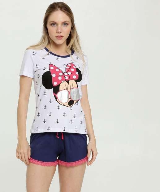 Image_Pijama Feminino Estampa Minnie Metalizado Disney