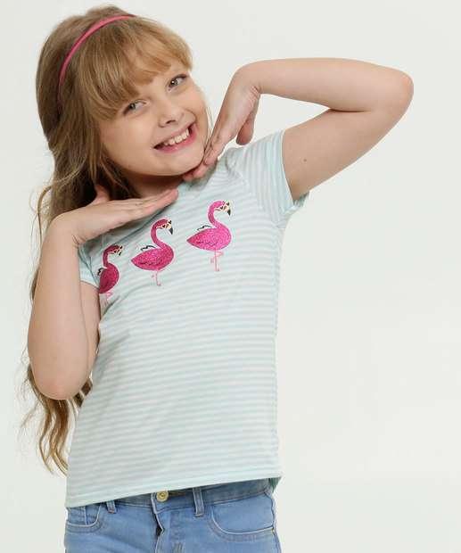 Image_Blusa Infantil Listrada Estampa Flamingo Manga Curta Marisa