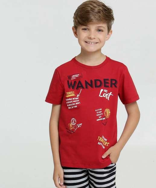 Image_Camiseta Infantil Estampa Frontal Manga Curta MR