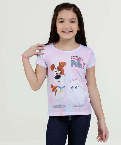 Image_Blusa Infantil Estampa Pets Manga Curta Universal