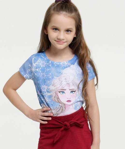 Image_Blusa Infantil Frozen Manga Curta Disney