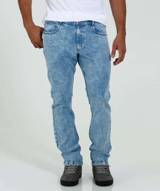 Image_Calça Masculina Slim Jeans Marmorizado Marisa