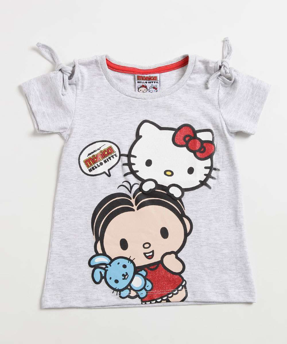 Blusa Infantil Hello Kitty e Monica Sanrio