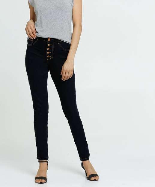 Image_Calça Jeans Skinny Feminina Botões Biotipo