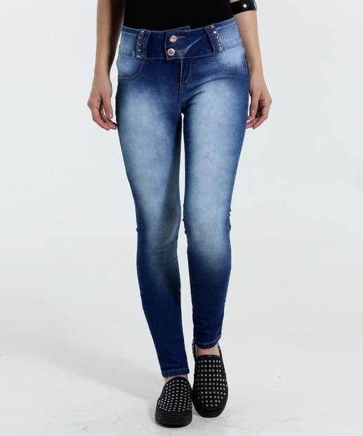 Image_Calça Feminina Skinny Jeans Tachas Marisa