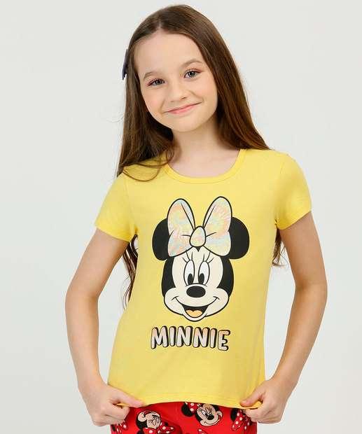 Image_Blusa Infantil Manga Curta Minnie Disney Tam 4 a 10