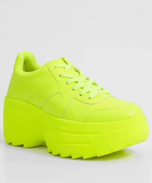 Image_Tênis Feminino Chunky Sneaker Neon Tratorado Zatz