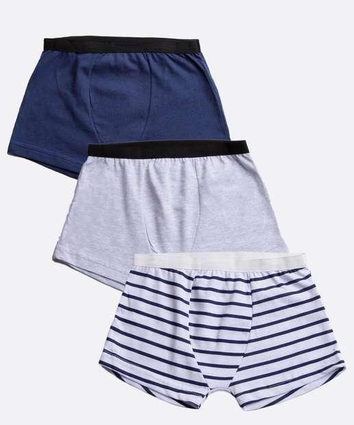 Image_Kit 3 Cuecas Boxer Infantil Listrada MR