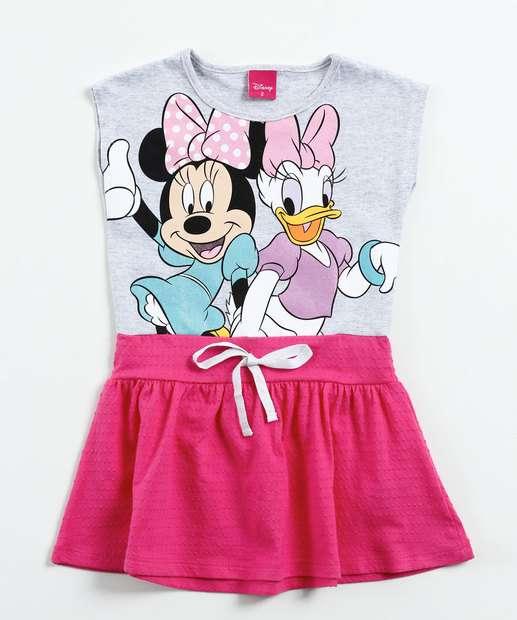 Image_ Vestido Infantil Estampa Minnie Margarida Disney