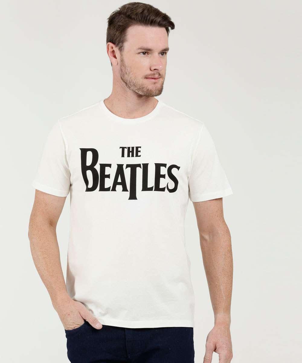 Camiseta Masculina Estampa The Beatles Manga Curta Live Nation
