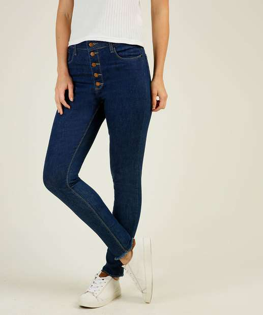 Image_Calça Jeans Skinny Feminina Botões Disparate