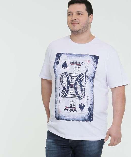 Image_Camiseta Masculina Estampa Rei de Espadas Plus Size MR