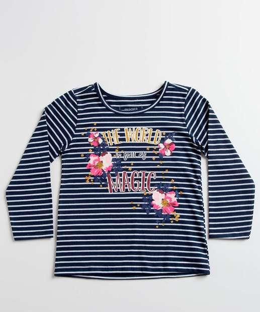 Image_Blusa Infantil Listrada Flores Manga Longa Marisa