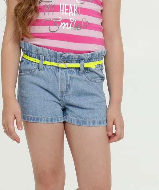 Image_Short Infantil Jeans Cinto Neon Marisa