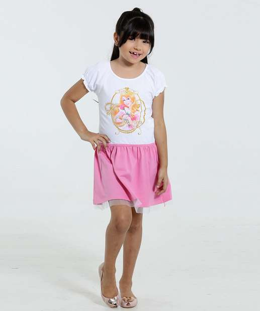 Image_Vestido Infantil Princesa Aurora Brilho Disney