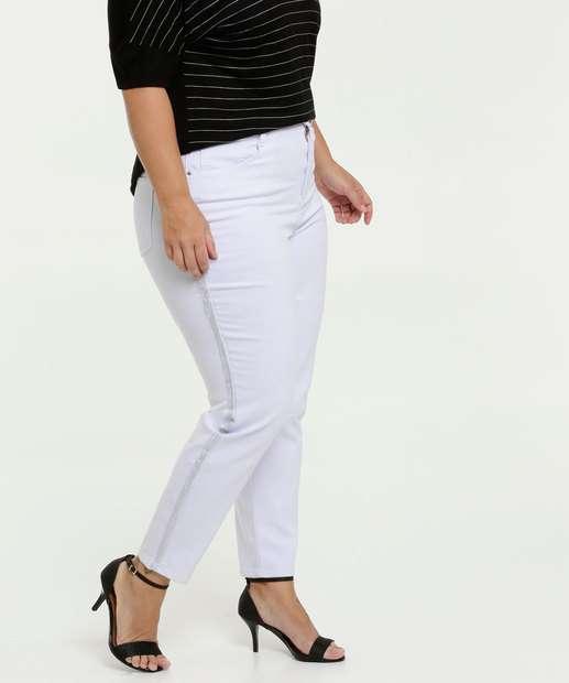 Image_Calça Feminina Sarja Skinny Bolsos Plus Size Marisa