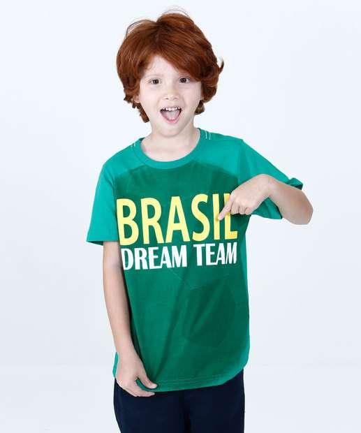 Image_Camiseta Infantil Brasil Manga Curta Marisa