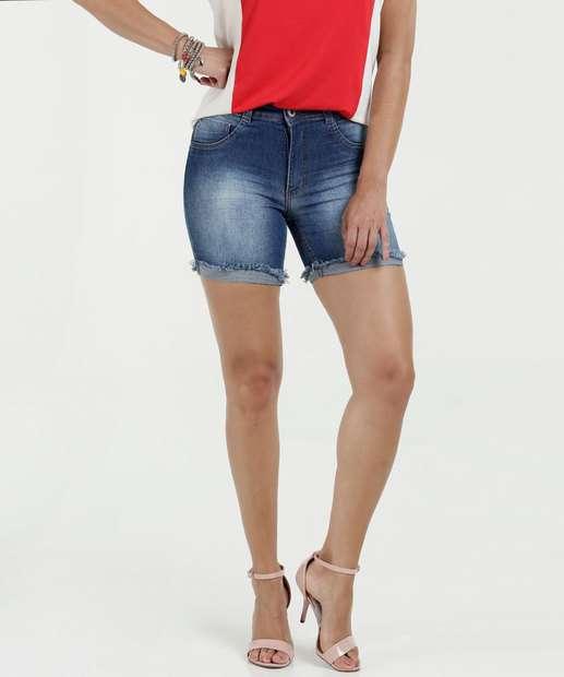 Image_Short Feminino Jeans Barra Desfiada Biotipo