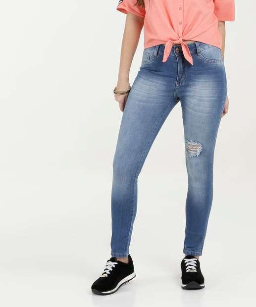 Image_Calça Feminina Jeans Destroyed Skinny Razon