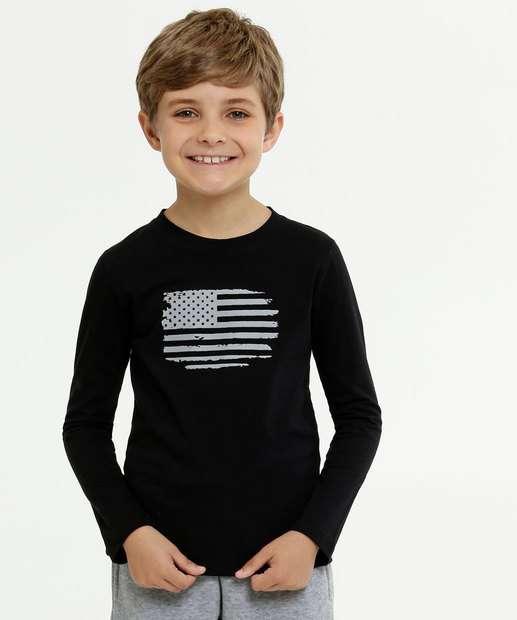 Image_Camiseta Infantil Estampa Bandeira Manga Longa