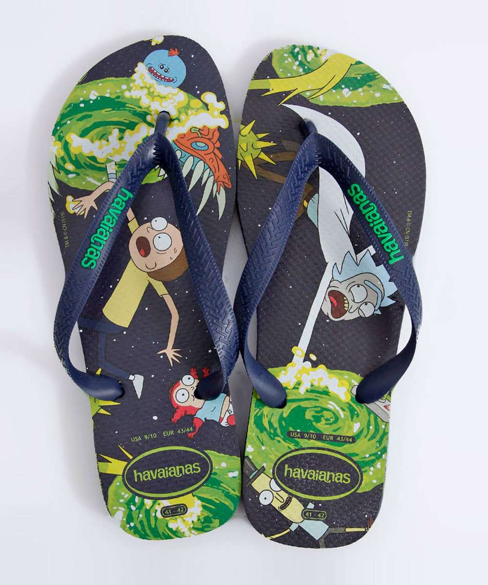 Chinelo Havaianas Masculino Top Rick And Morty