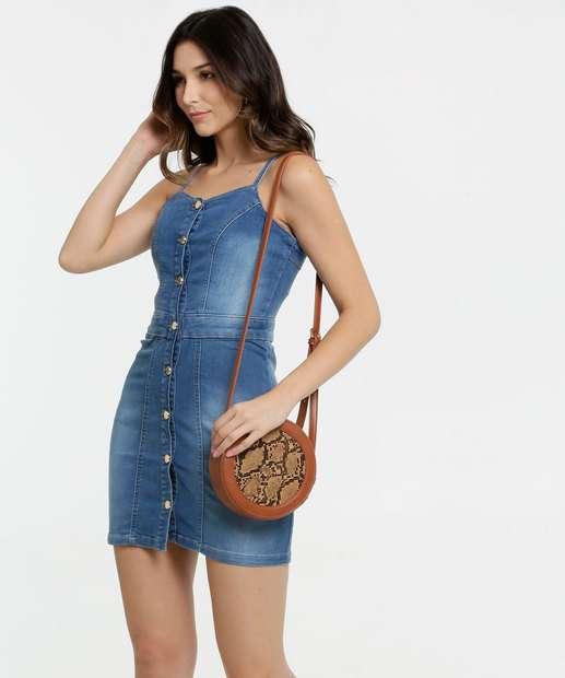 Image_Vestido Feminino Jeans Alças Finas Zune Jeans