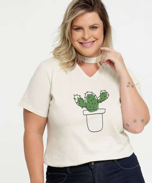Image_Blusa Feminina Choker Estampa Cacto Plus Size Marisa