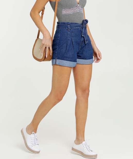 Image_Short Feminino Jeans Clochard Cintura Alta Marisa