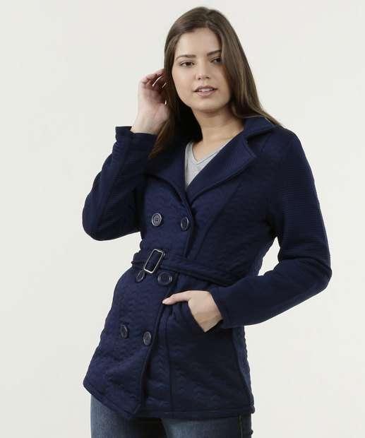 777a048d37 Casaco Feminino Trench Coat Manga Longa