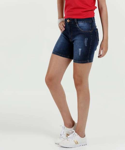 Image_Short Feminino Jeans Puídos Cintura Média Biotipo