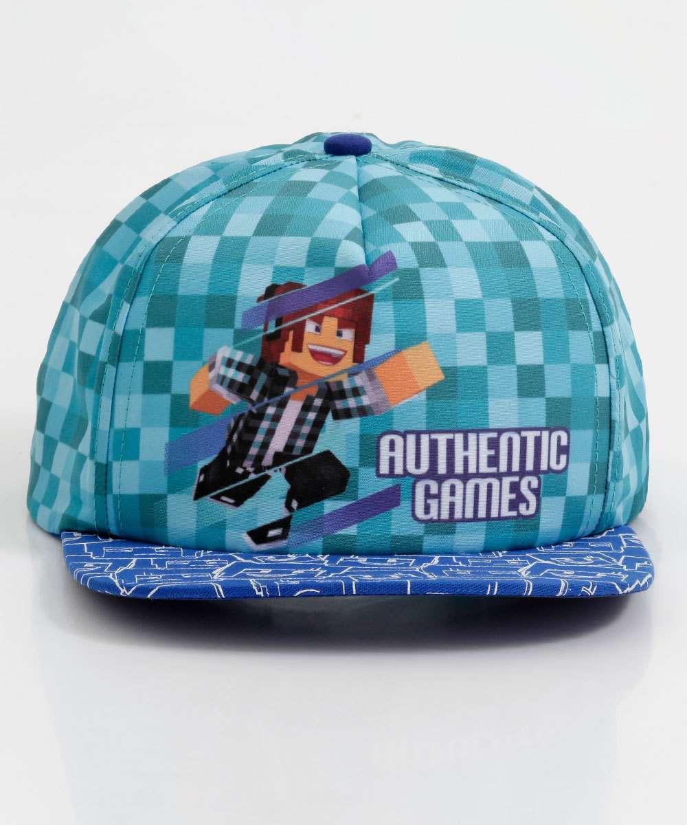 Boné Infantil Estampado Authentic Games