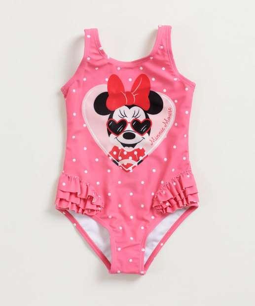 Image_Maiô Infantil Estampa Minnie Alças Finas Disney