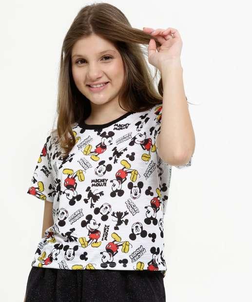 Image_Blusa Juvenil Estampa Mickey Manga Curta Disney
