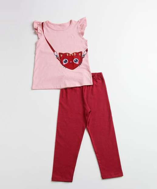 Image_Conjunto Infantil Estampa coração Manga Curta Marisa