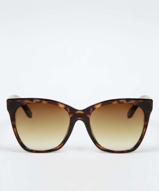 Óculos de Sol Feminino Estampa Animal Print Quadrado Marisa d7fd70375e