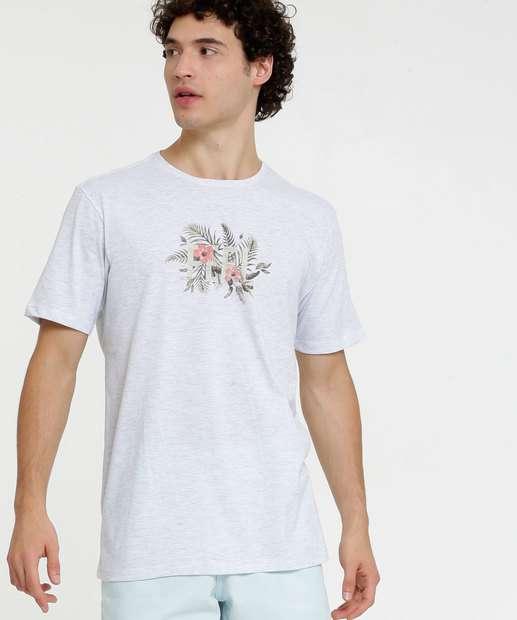 Image_Camiseta Masculina Estampa Floral Manga Curta