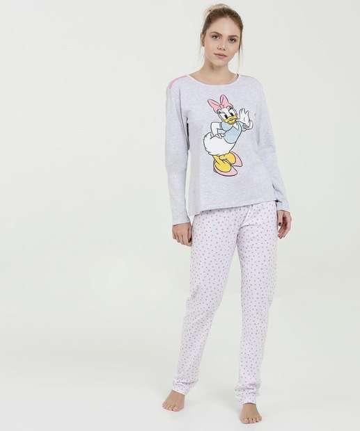 Image_Pijama Feminino Estampa Frontal Margarida Manga Longa Disney