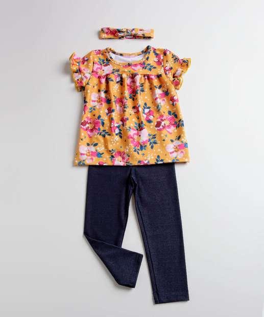 Image_Conjunto Infantil Estampa Floral Manga Curta Marisa