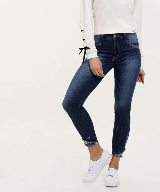 Image_Calça Feminina Jeans Cigarrete Strass Biotipo