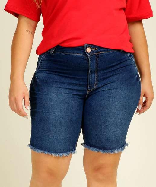 Image_Bermuda Plus Size Feminina Jeans Barra Desfiada Biotipo