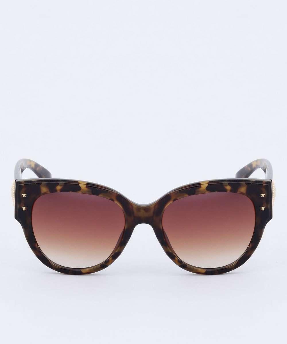 Óculos de Sol Feminino Redondo Estampado Marisa