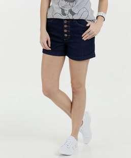 Short Feminino Jeans Botões Marisa