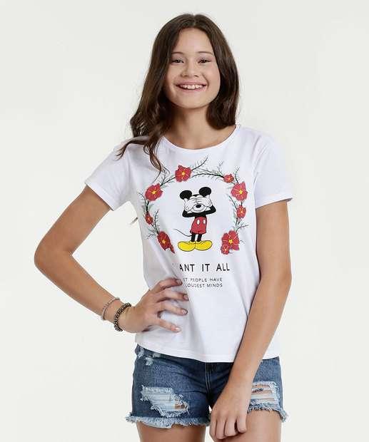 Image_Blusa Juvenil Estampa Mickey Mouse Manga Curta Disney