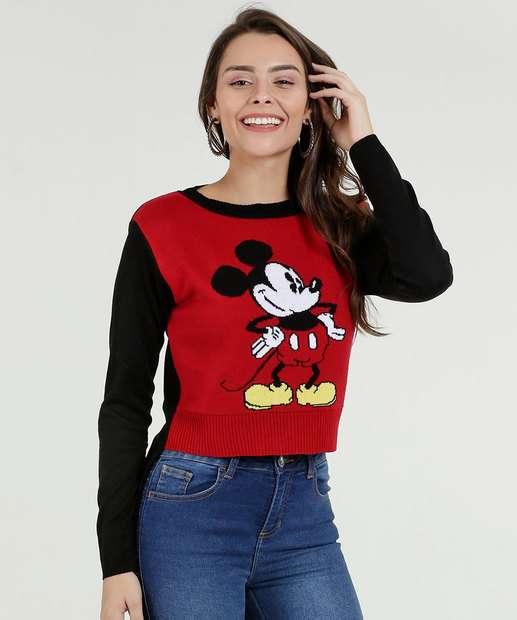 74d3de9abb Suéter Feminino Tricô Mickey Disney