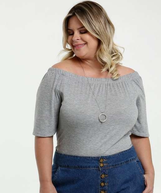 Image_Blusa Feminina Ombro a Ombro Amarração Plus Size