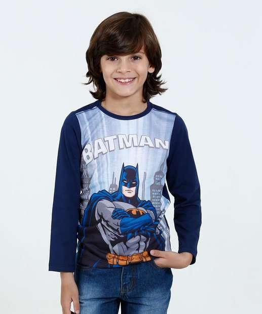 Image_Camiseta Infantil Manga Longa Batman Liga Da Justiça