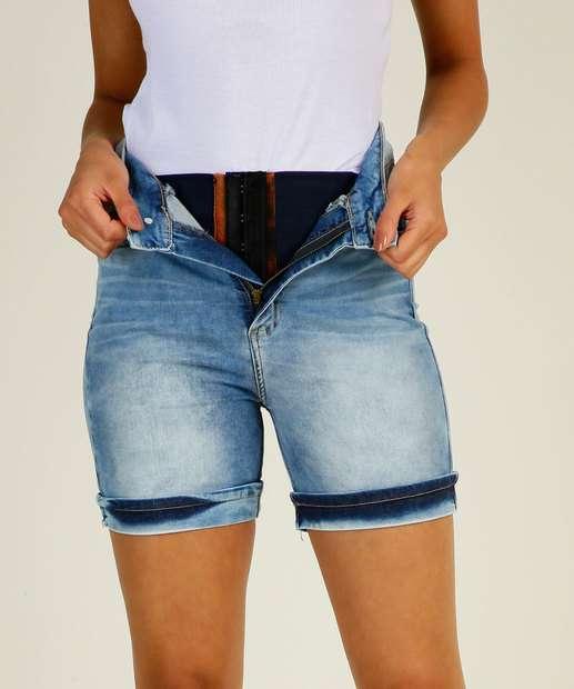 Image_Bermuda Jeans Feminina Super Lipo Modeladora Sawary