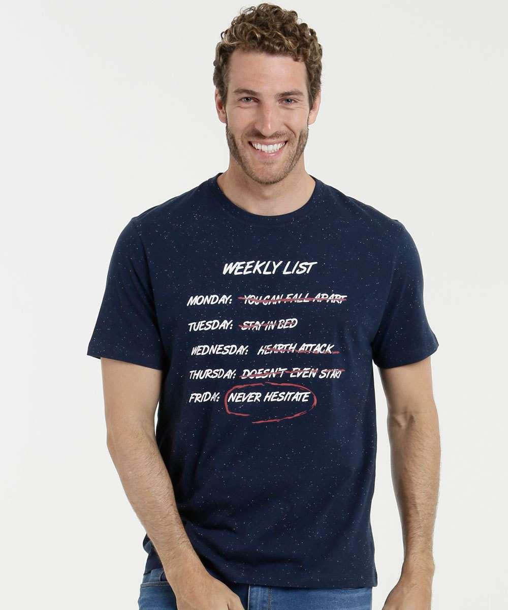 Camiseta Masculina Estampa Frontal Marisa